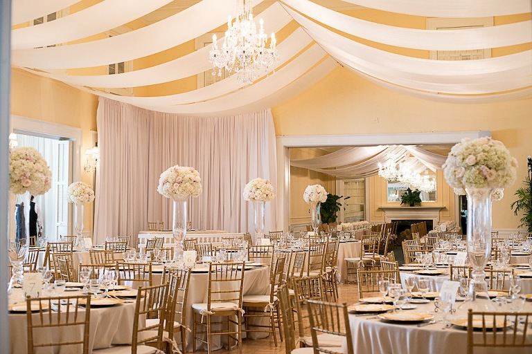 Tampa Yacht And Country Club Wedding Elegant Gold Champagne Ivory Blush Waterfront