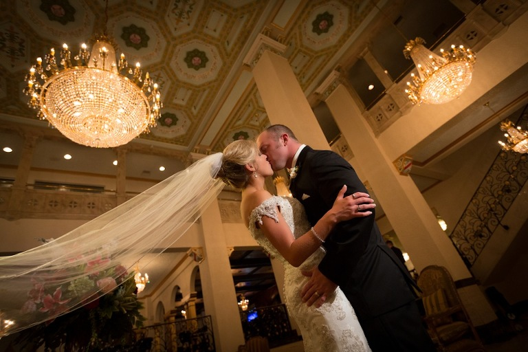 1920's Champagne, Gold and Coral Formal Wedding at the Floridan Palace - Tampa Wedding Photographer Joe Capasso Photography (34)
