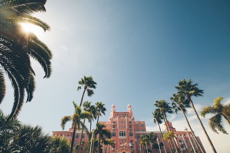 Don CeSar Wedding - Formal, black, white and gold St. Pete Beach Wedding by Parker Young Photography (2)