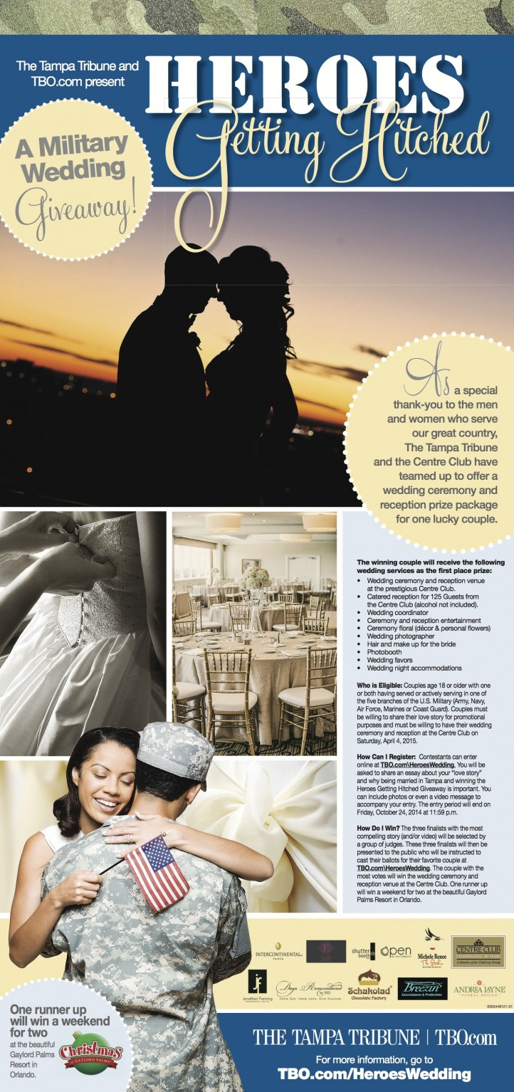 Win a Free Centre Club Wedding - Heros Getting Hitched