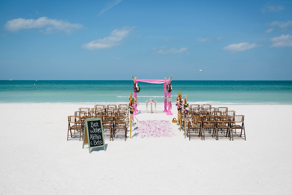 Pink & Lavender Tropical Destination Wedding - Pass-a-Grille Beach Wedding - Sophan Theam Photography & Tide the Knot Beach Weddings (20)