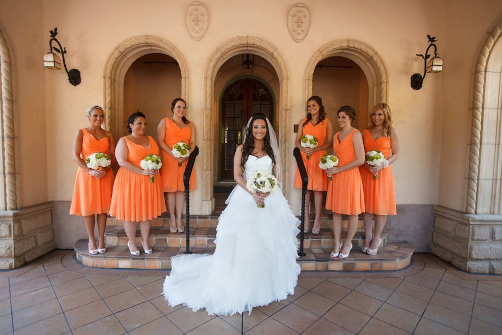Tangerine Orange Bridesmaid Dresses