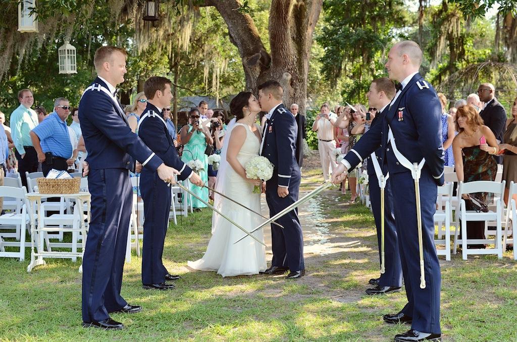 Military Wedding Ceremony Sword Salute