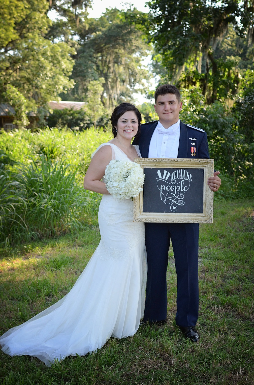 Cross creek ranch wedding navy blue and coral military for Wedding dress rental tampa