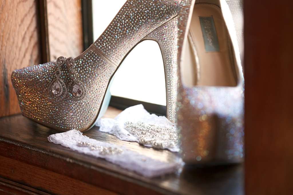 Silver Bling Wedding Shoes