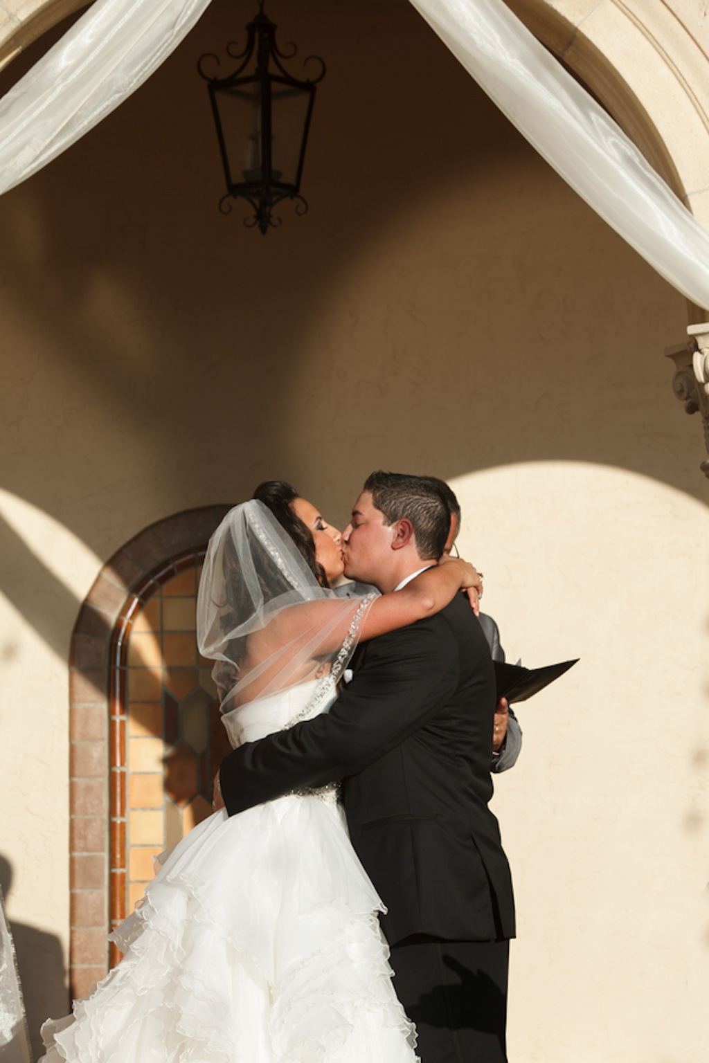 Bride & Groom First Kiss