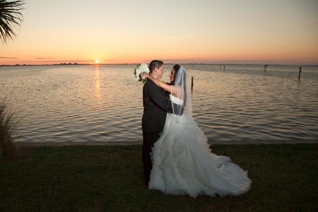 Sunset Waterfront Sarasota, Florida Wedding - Carrie Wildes Photography