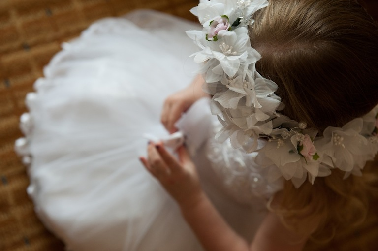 Flower Girl with Rose Halo Crown