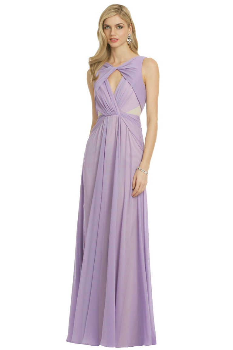 Rent the Runway - Badgley Mischka Pastel Petunia Gown