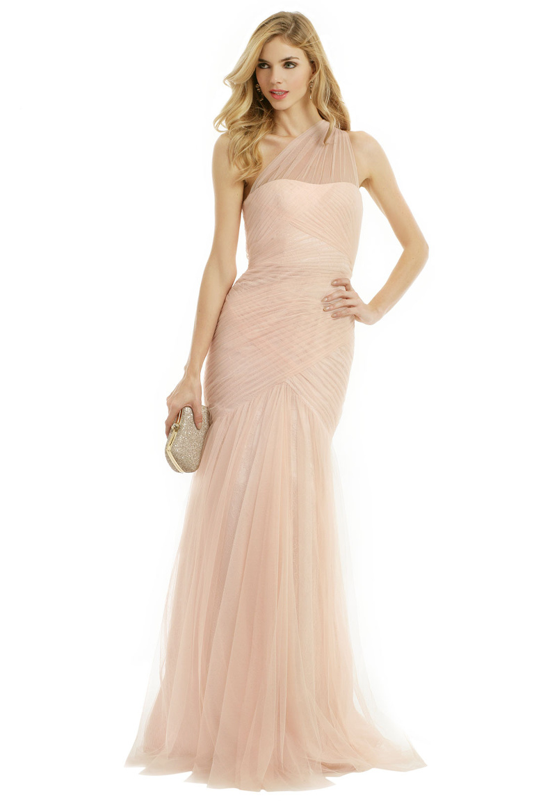 Rent the Runway - ML Monique Lhuillier Fallen Rose Petal Gown