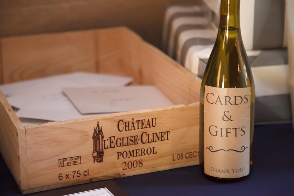 Wine Box Card and Gift Box Holder