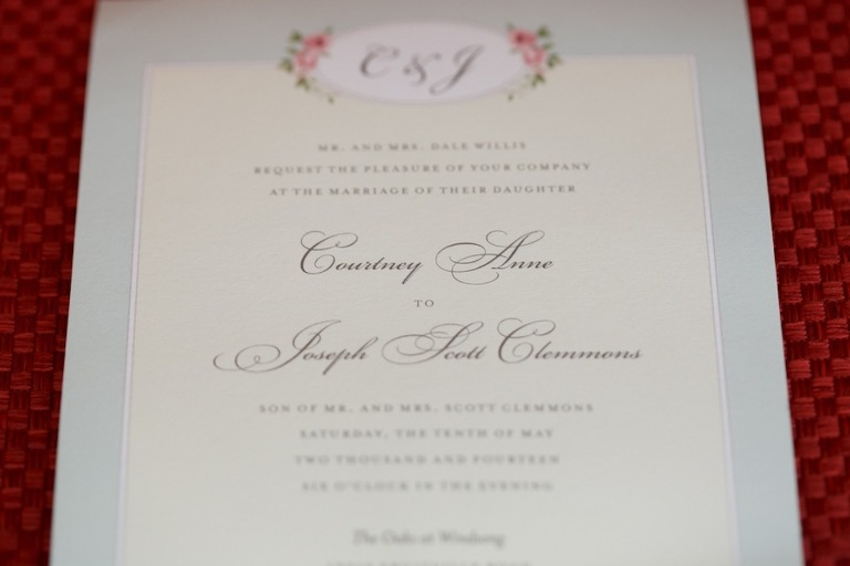 Rustic Pink Wedding Invitation by Paper Panache