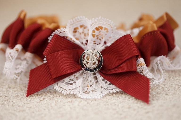 Gold and Garnet Florida State Wedding Garter
