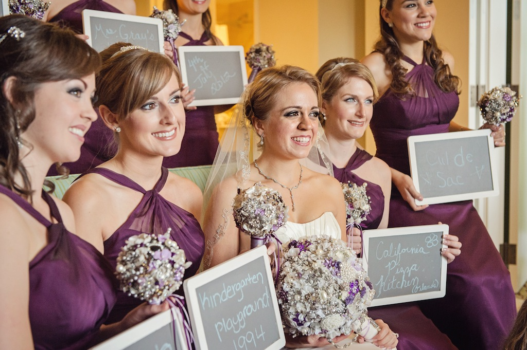 Bridesmaids and Chalk Signs