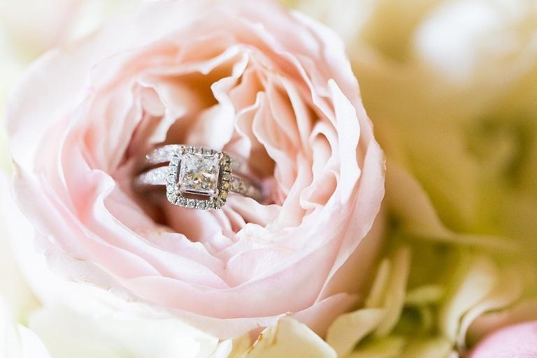 Wedding Rings in Flower