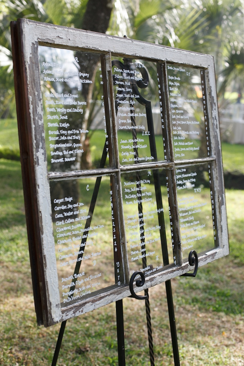 Vintage Window Pane Seating Chart Wedding Decor Marry Me Tampa Bay Local Real Wedding Inspiration Vendor Recommendation Reviews