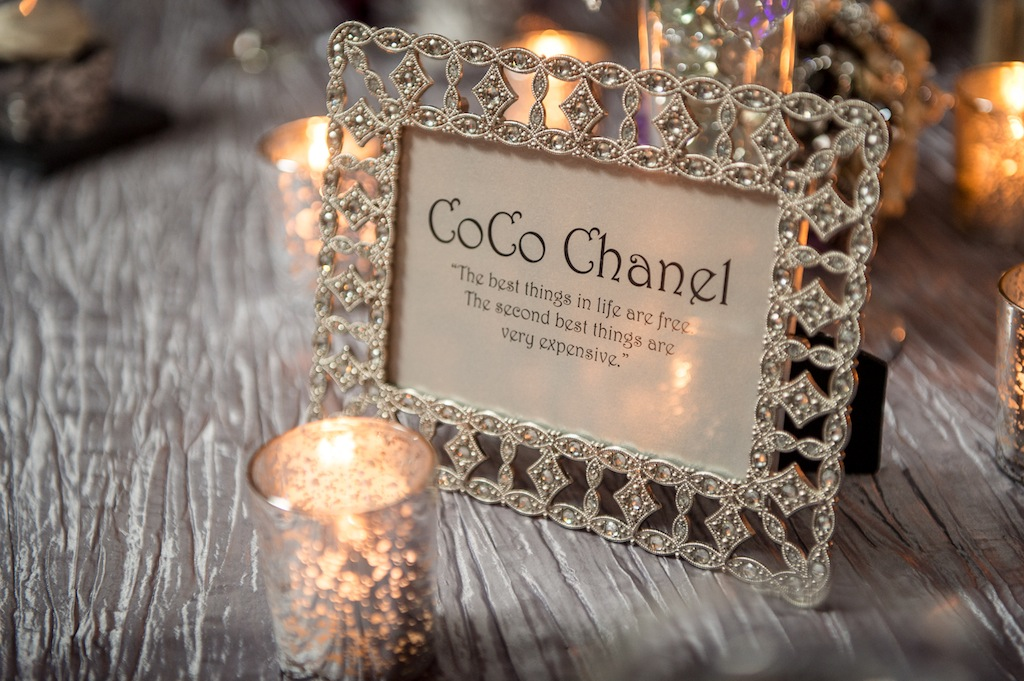 1920's Vintage Coco Chanel Table Names-Numbers
