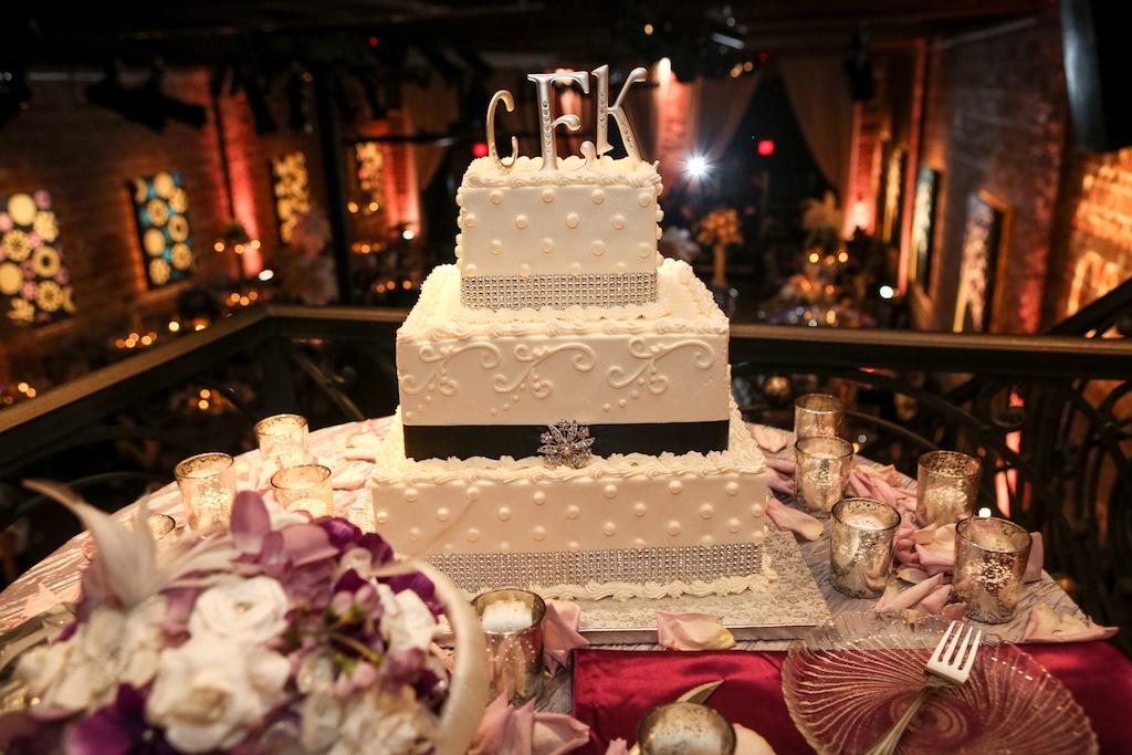 1920's Vintage 3-Tier Square Wedding Cake