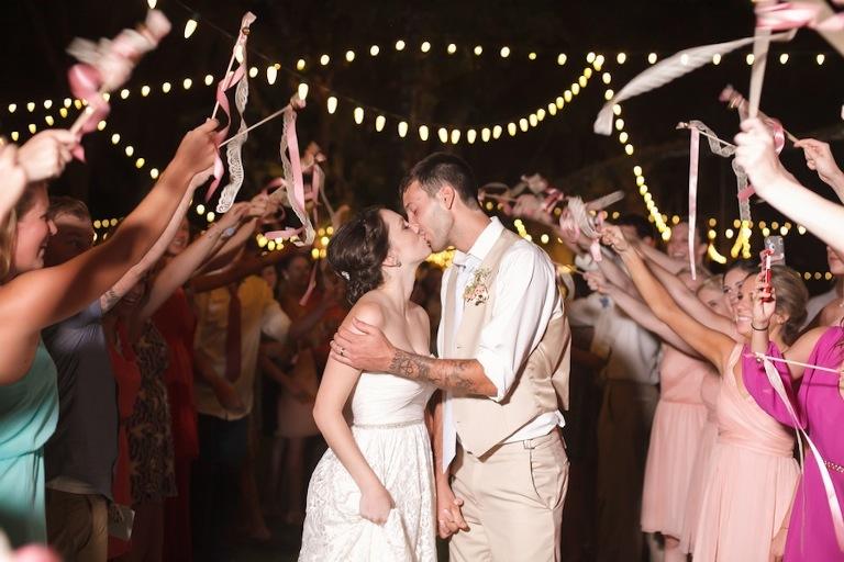 Rustic, Sarasota Wedding Sparkler Exit