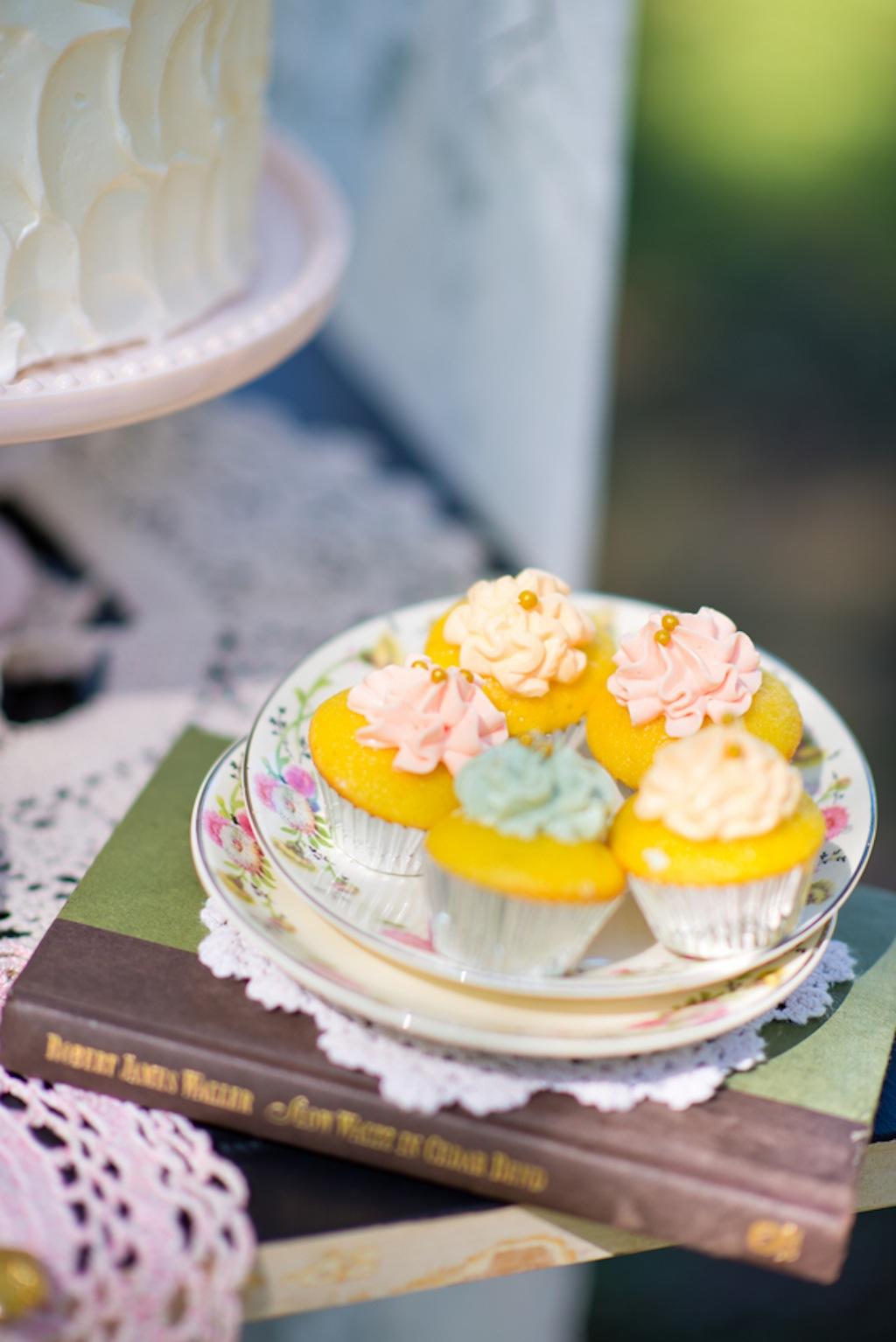 Mini Wedding Cupcakes   Vintage, Garden Wedding Styled Shoot