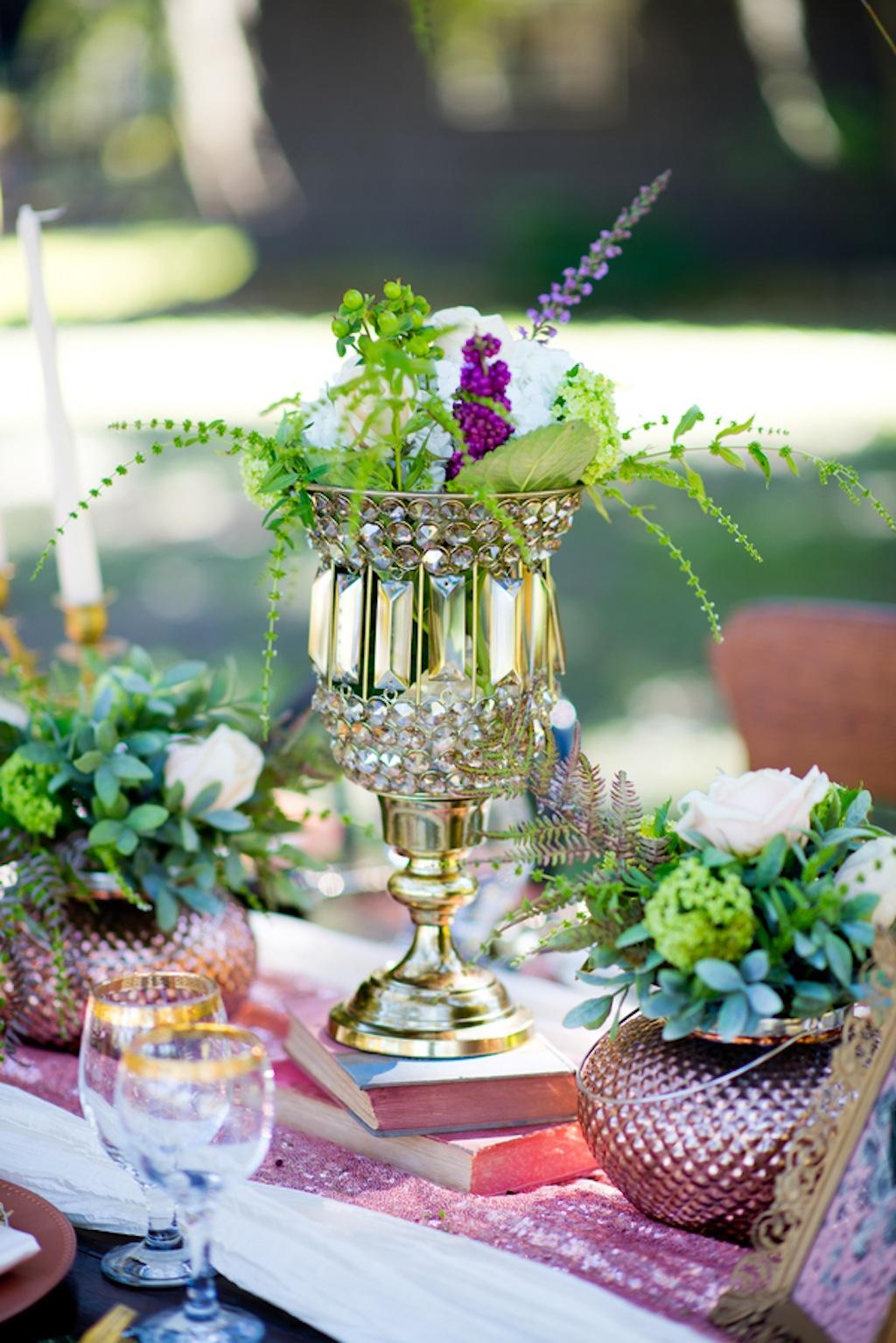 Rustic Green Wedding Centerpieces   Vintage, Garden Wedding Styled Shoot