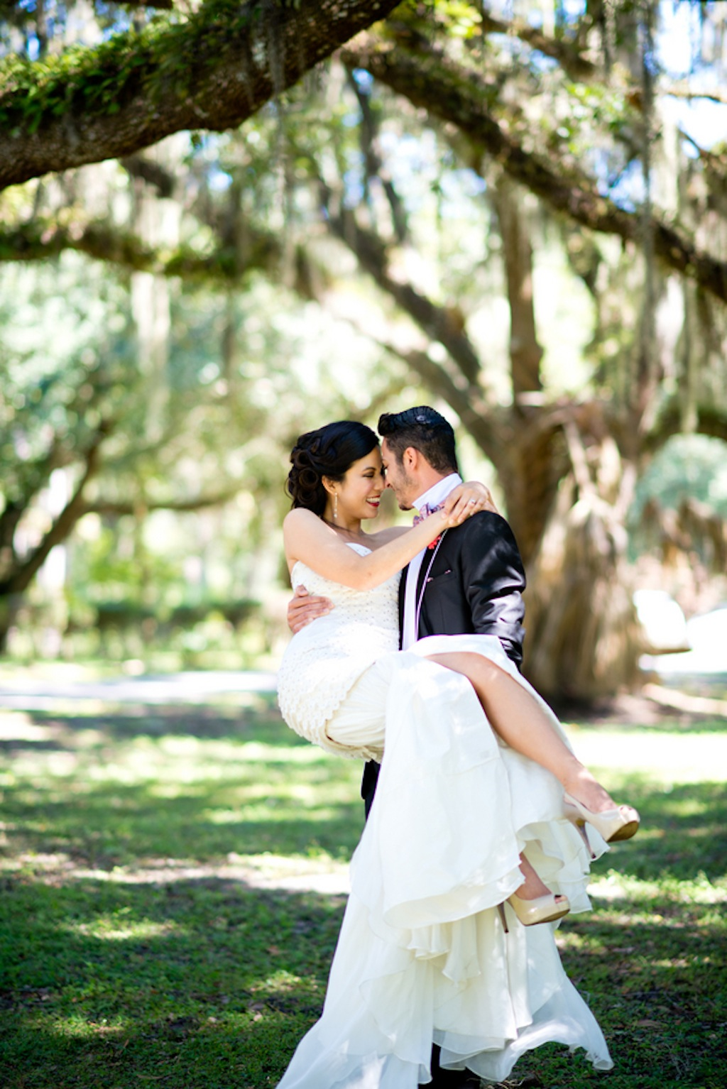 Groom Carrying Bride   Vintage, Garden Wedding Styled Shoot by Kera Photography