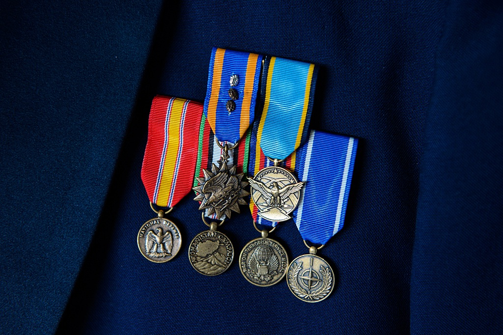 Military Wedding Groom Medals