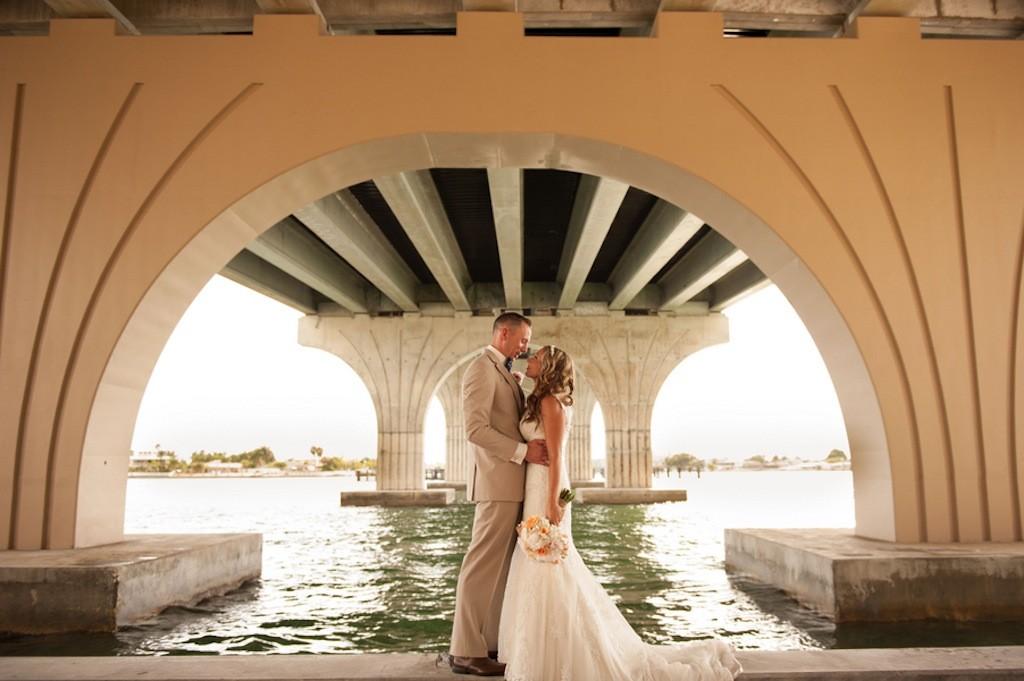 St. Petersburg, FL Bride and Groom on Wedding Day: Stephanie A. Smith Wedding Photography
