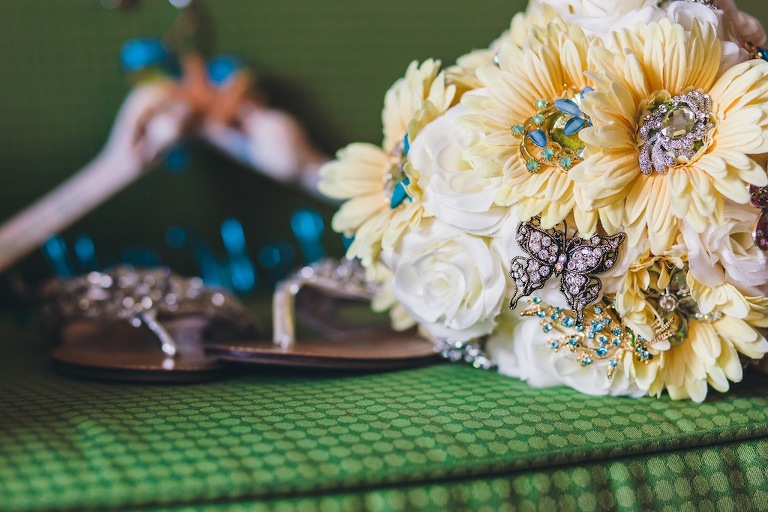 Yellow Brooch Wedding Bouquet