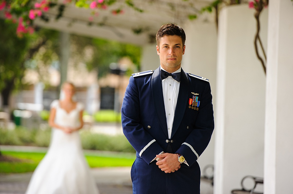 Military Groom First Look