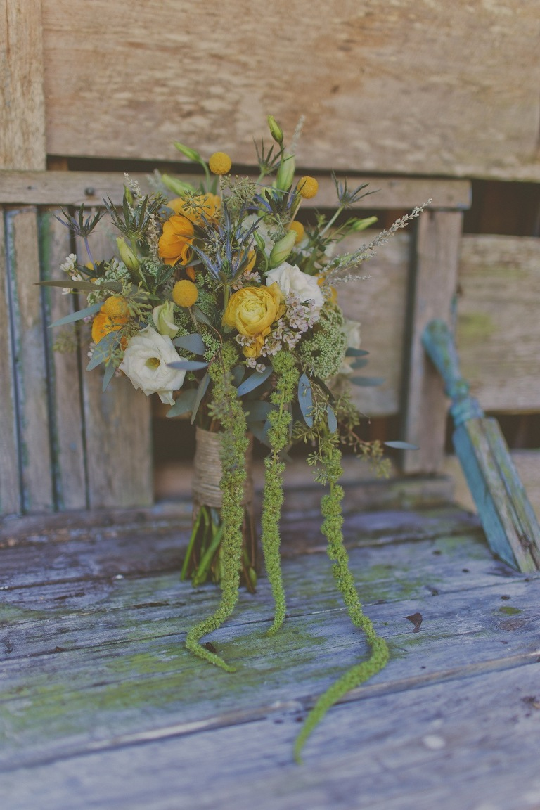 Orange Rustic Wedding Bouquet