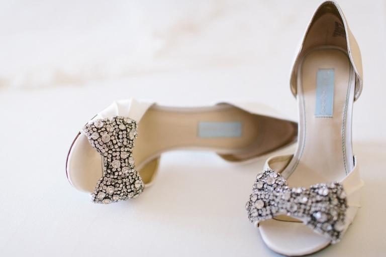 White Bling Rhinestone Wedding Shoes