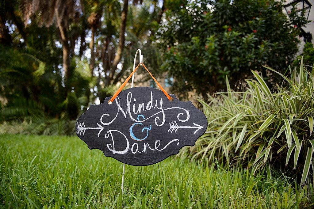 Chalkboard Sign Bride and Groom