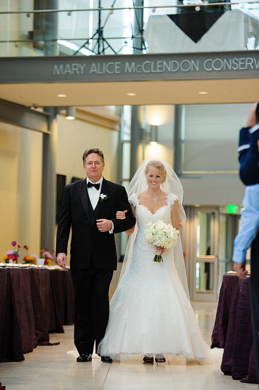 St. Pete Museum of Art Bride Walking Down the Aisle