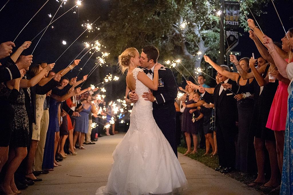 Musuem of Fine Arts Sparkler Wedding Exit