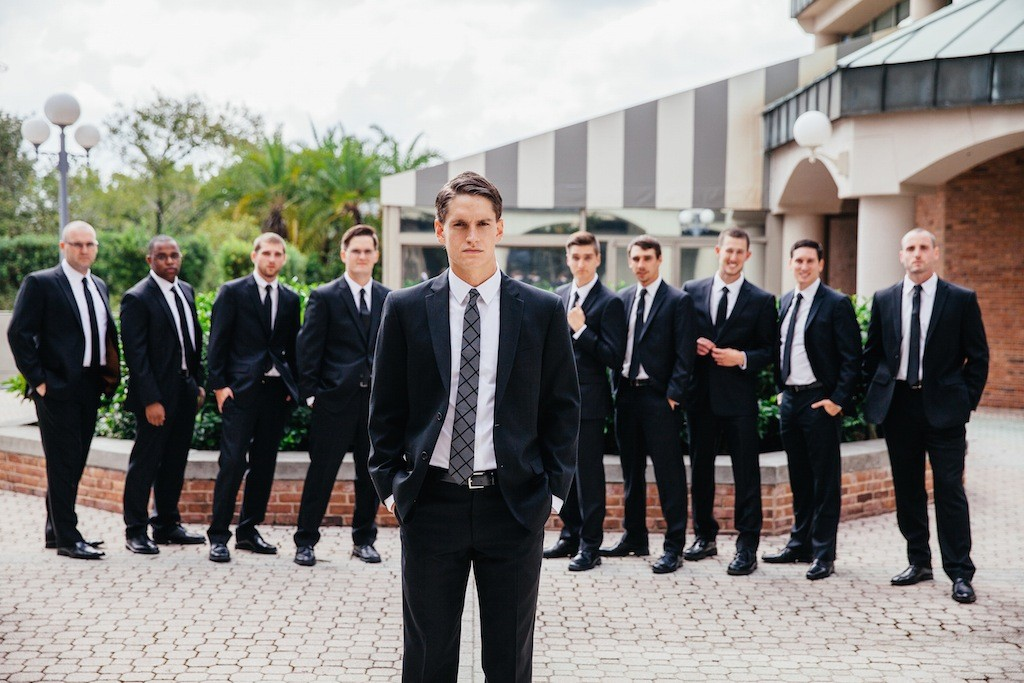 Groomsmen Black Suits