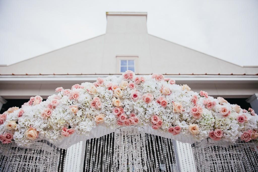 Rose Wedding Arch with Rhinestones by Northside Florist