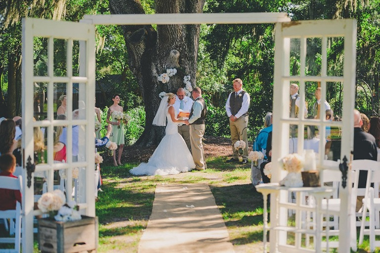 Rustic Outdoor Wedding Ceremony - Cross Creek Ranch