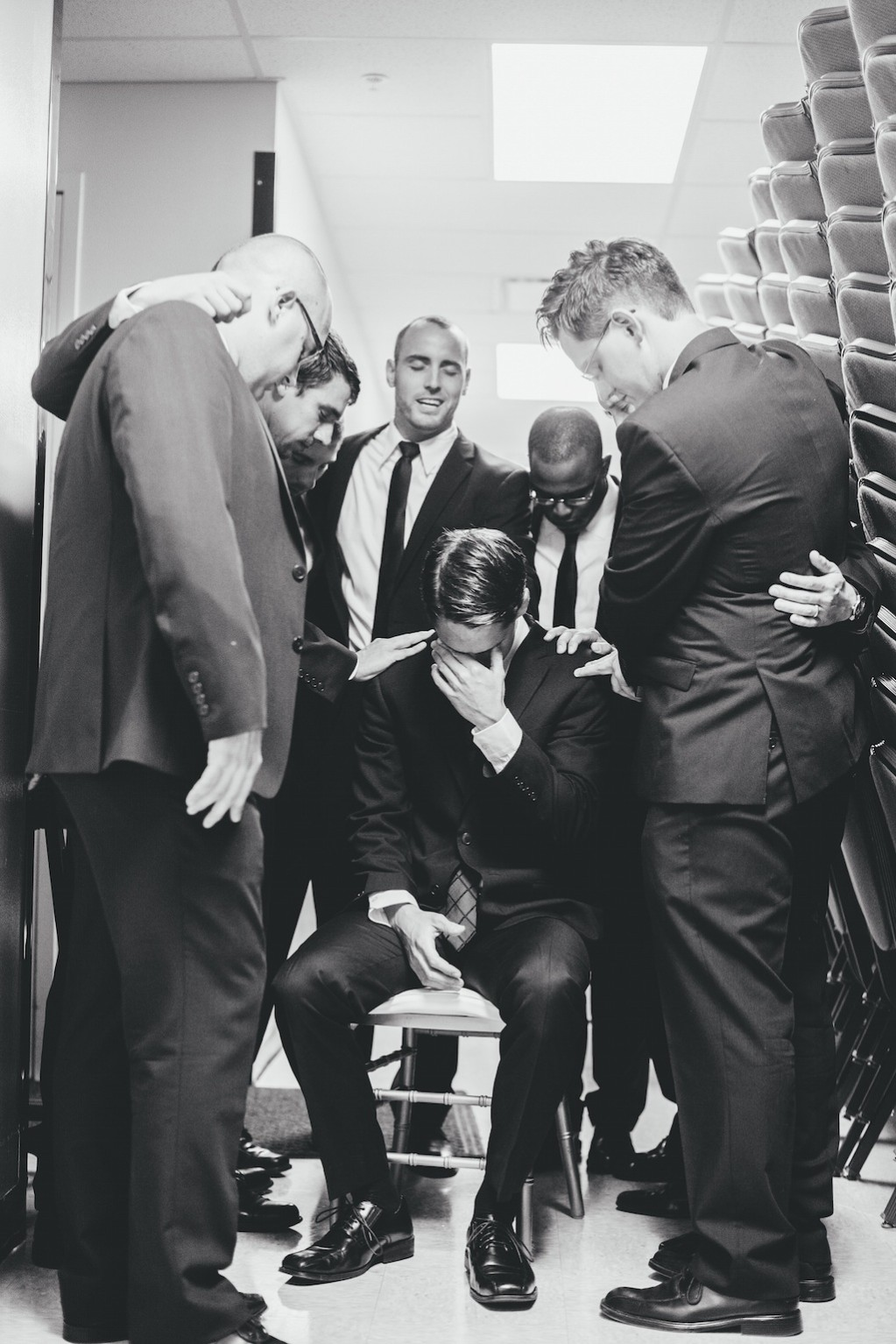 Groom Prayer on Wedding Day