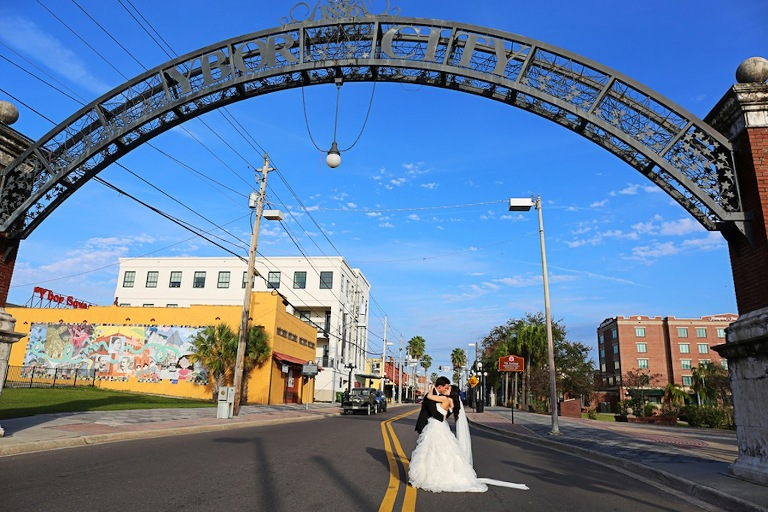 Ybor City Bride and Groom