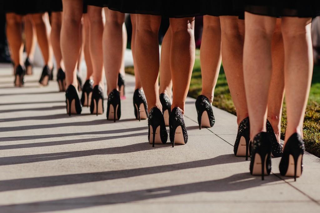 Black Bling Rhinestone Wedding Shoes