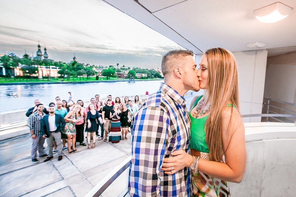 Surprise Wedding Engagement at Curtis Hixon Park in Tampa