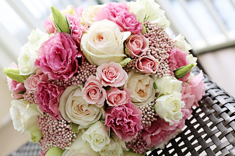 Pastel Pink Wedding Bouquet
