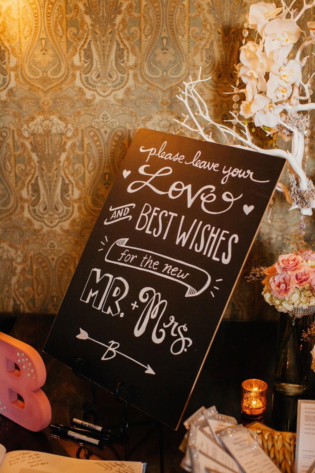 Wedding Guestbook Chalkboard Sign