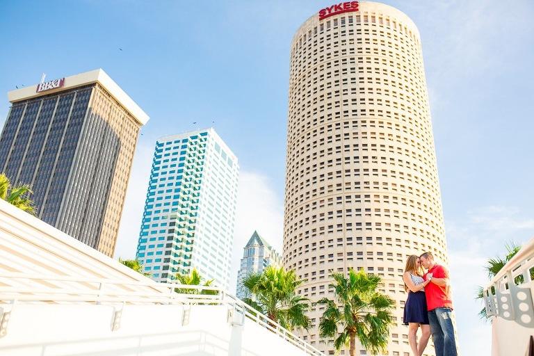 Downtown Tampa Curtis Hixon Park Wedding Engagement Session