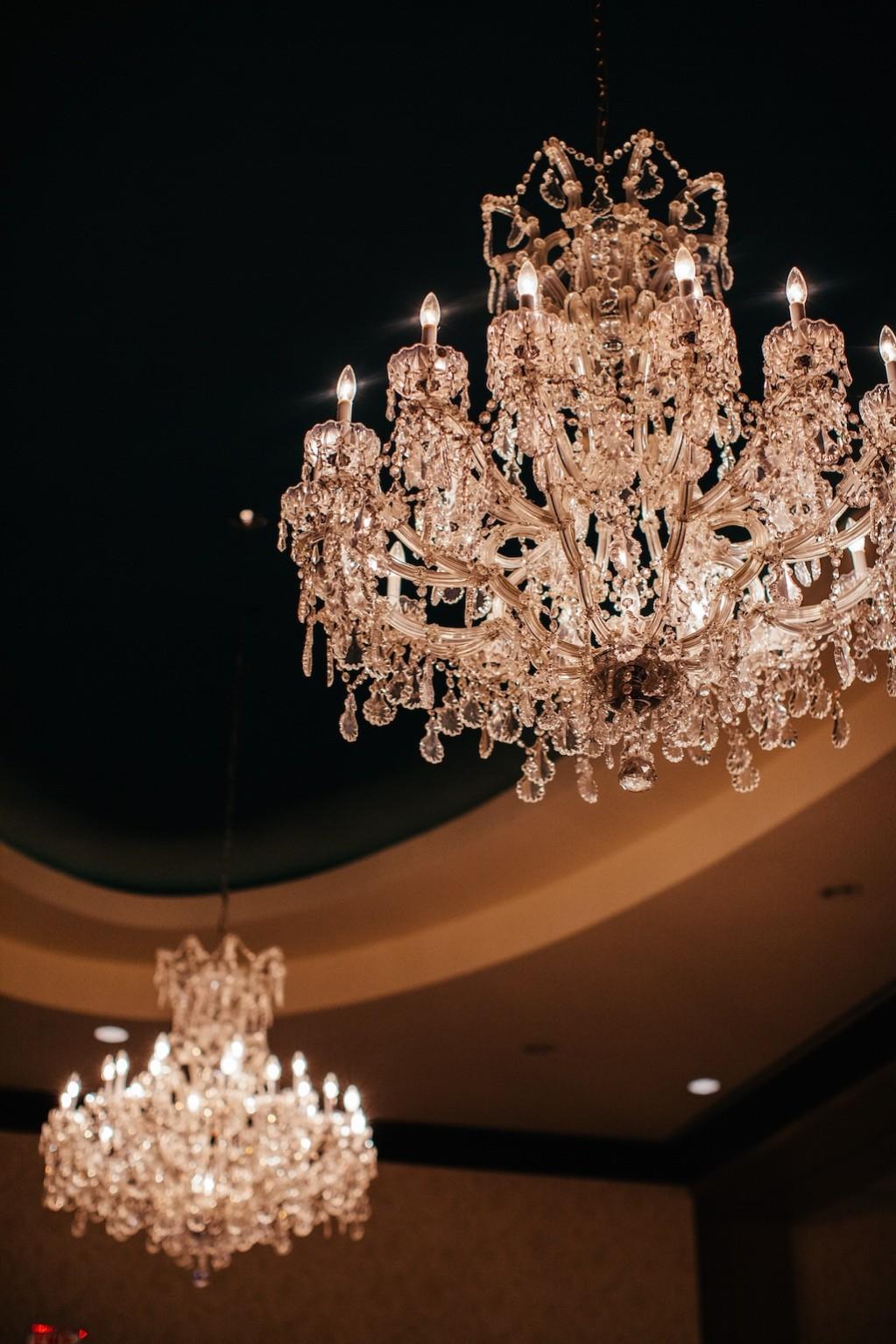 Palmetto Club Wedding Reception Chandeliers