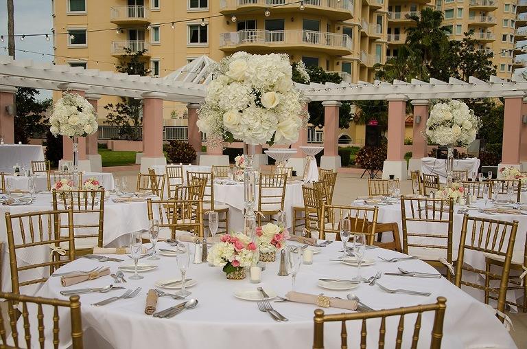 Outdoor White Tampa Bay Wedding Reception