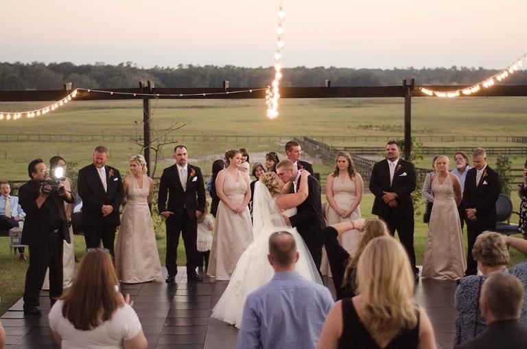 Outdoor Rustic Tampa Bay Wedding Ceremony
