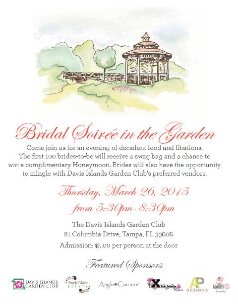 Davis Islands Garden Club Bridal Show – March 26, 2015