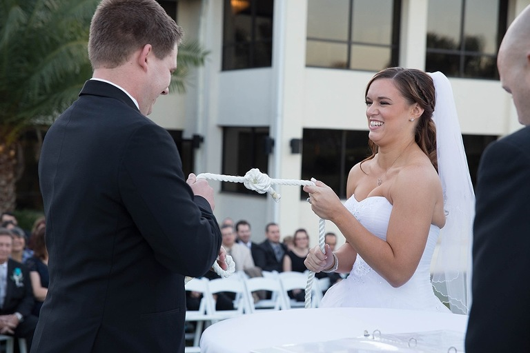 Bride and Groom Tying the Knot Wedding Ceremony Ideas